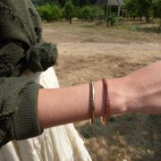 Abstract Hieroglyph Bangle and Cuff detail